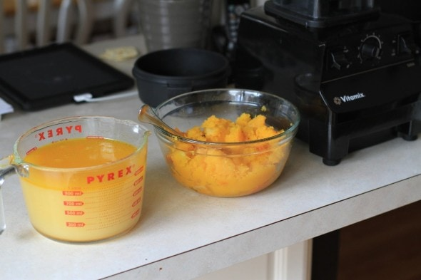 I bought a vitamix heres what i think of it the frugal girl squash soup ready for pureeing forumfinder Choice Image