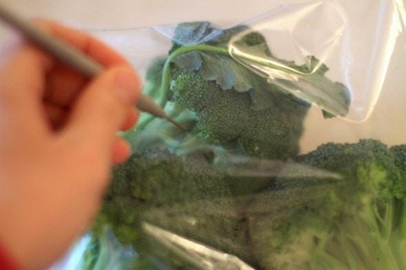 storing broccoli