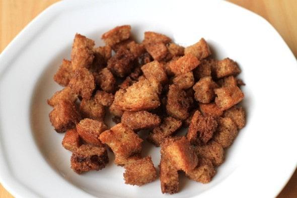 cinnamon sugar croutons
