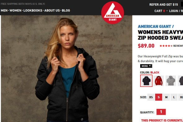 Womens Heavyweight Full Zip Hooded Sweatshirt - American Giant - American Giant - Mozilla Firefox 11202013