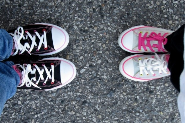 two pairs of Converse