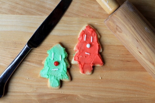 Cut-Out Christmas Cookies with Buttercream Frosting (from The Frugal Girl)