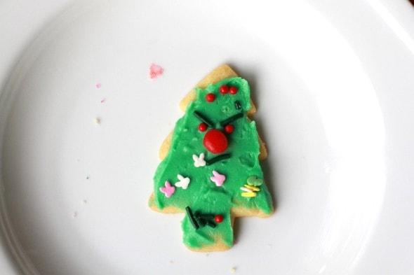 grumpy Christmas cookie