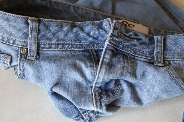 jeans missing a button