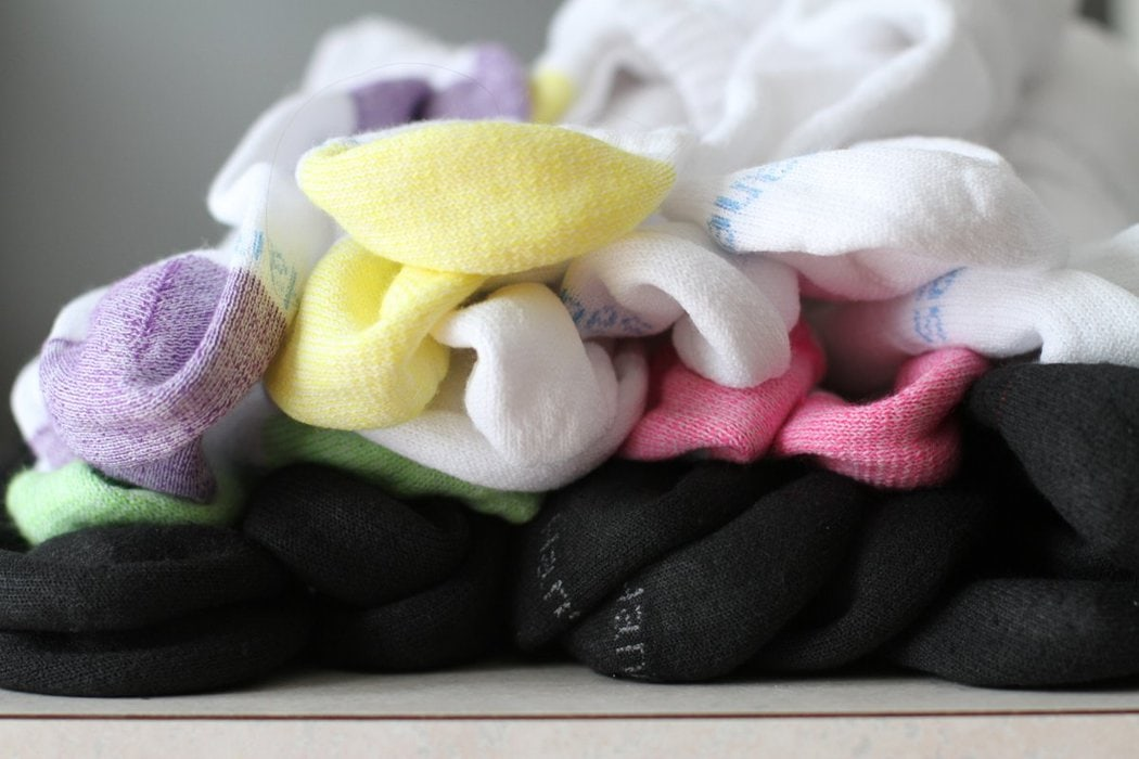 A pile of socks from Target.