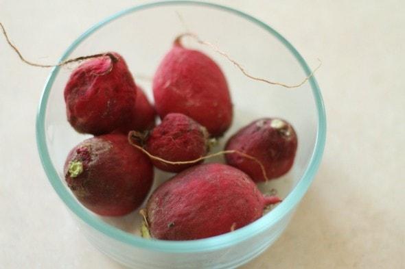 wrinkly radishes