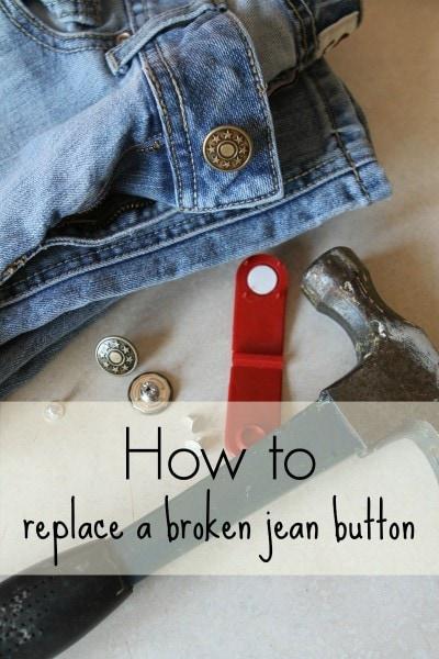 replace a broken jean button