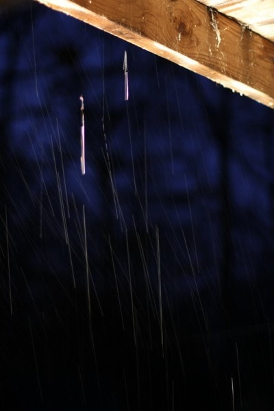 rain drops at night