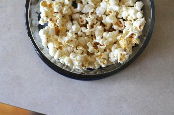 leftover popcorn