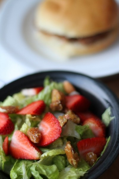 strawberry salad and sloppy joes