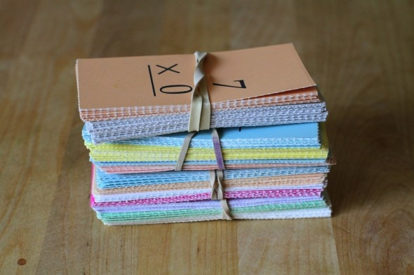 storing Saxon flash cards