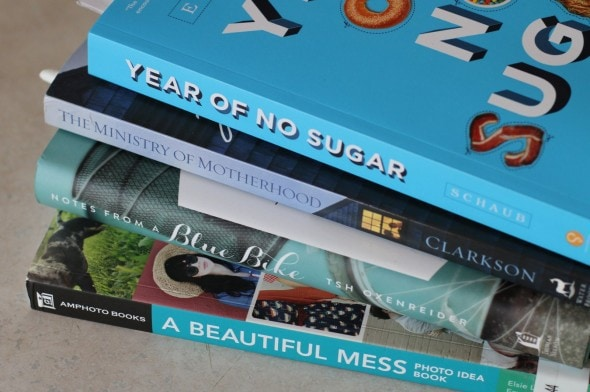 the frugal girl's book pile