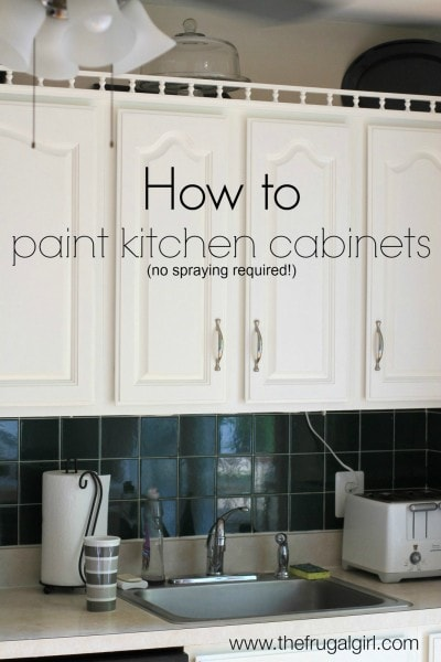 how to paint kitchen cabinets the frugal girl - Kitchen Spraying