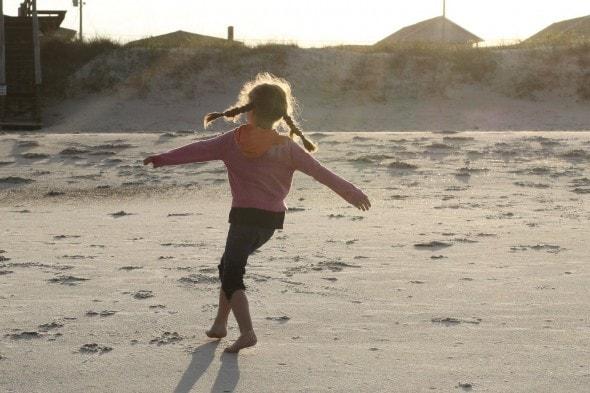 Zoe twirling