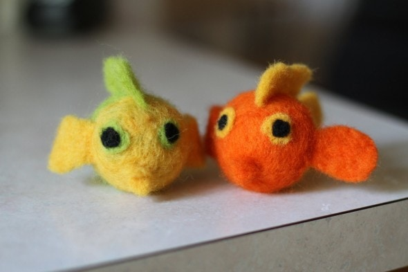 felted wool fish