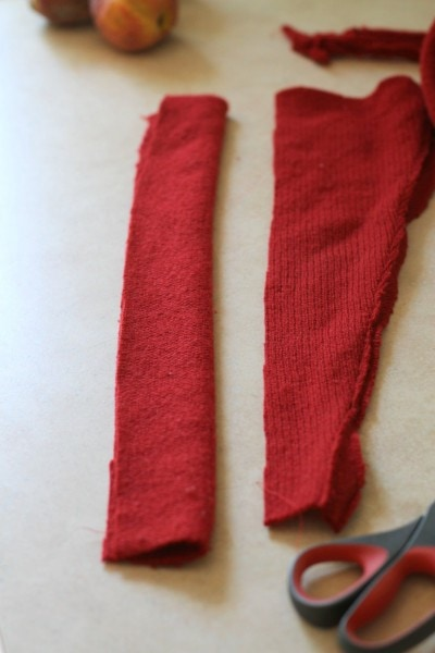 how to make a toy scarf from an old sweater