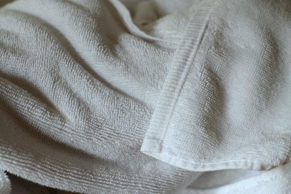 mended bath towel