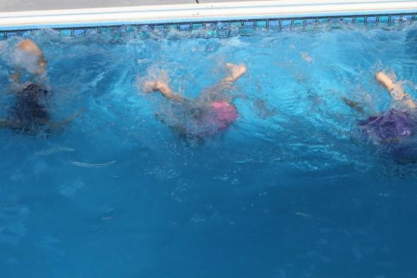 girls underwater