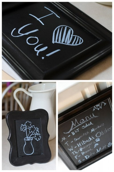 chalkboards made with Cabot stain