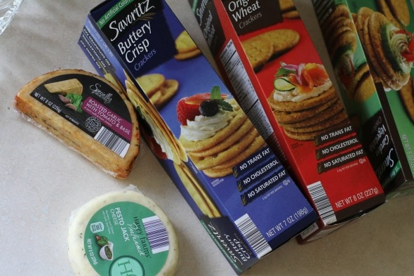 cheese and crackers from Aldi