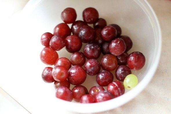 freezing soft grapes
