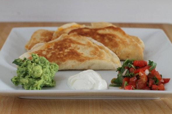 two quesadillas