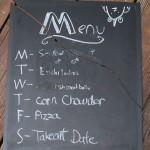 My menu board bit the dust. But I resurrected it.