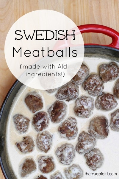 how to make homemade swedish meatballs with aldi ingredients