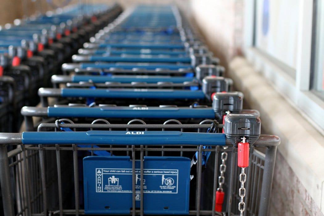 Aldi shopping carts.