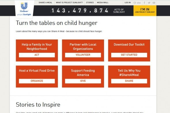 Share A Meal  Sustainable Living  Unilever Project Sunlight USA - Mozilla Firefox 11222014 125533 PM