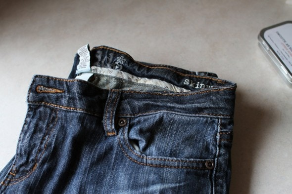 how to fix jeans waistband