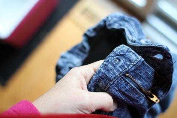 broken kids jeans button
