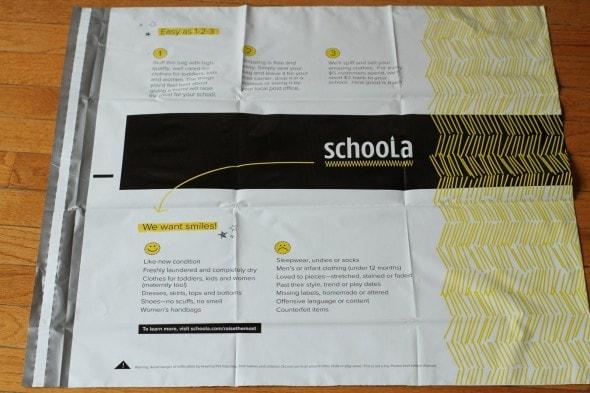 schoola donation bag
