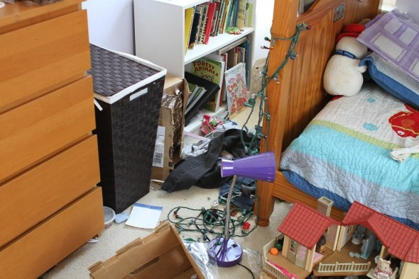 A messy children's room.