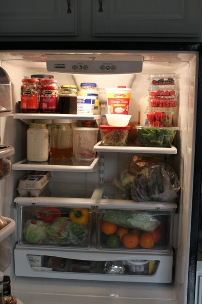 frugal girl fridge