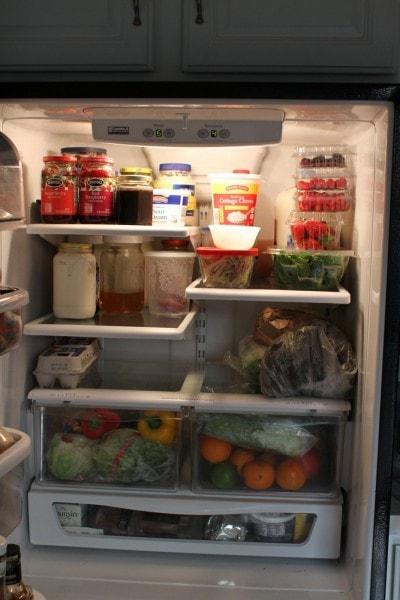 frugal girl fridge