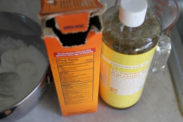 baking soda and castile soap