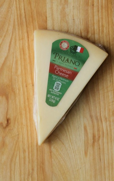 parmesan cheese wedge from Aldi
