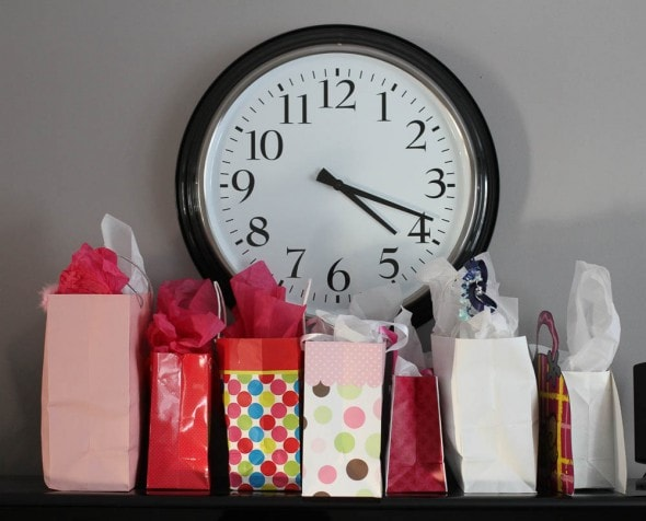 bags of presents