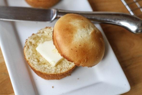 buttered batter roll