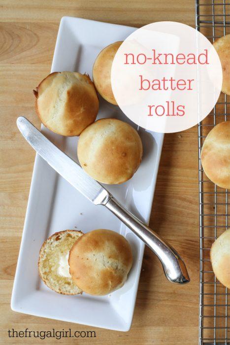 No-Knead Batter Roll Recipe