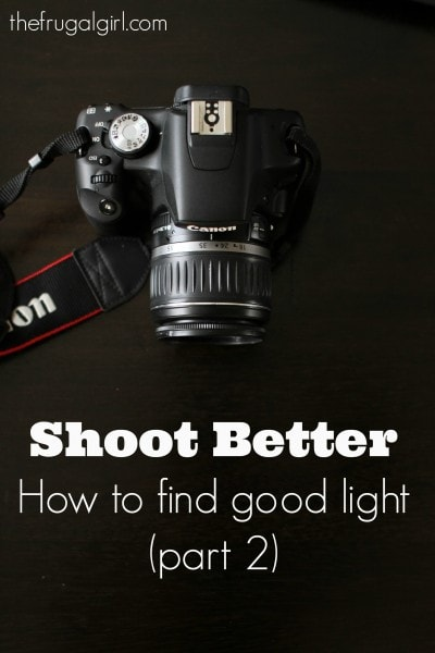 How to find good light for better photos