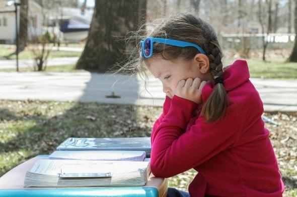 homeschool math outdoors