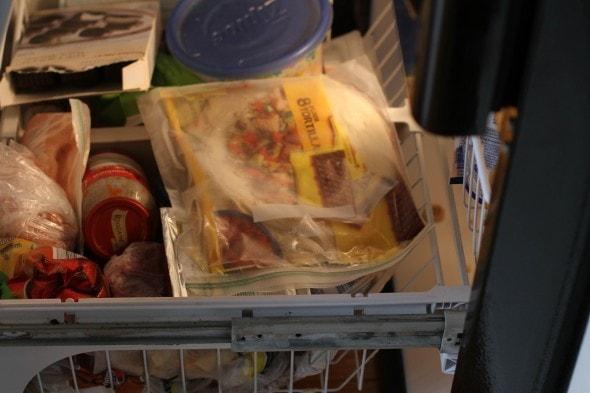 crammed freezer