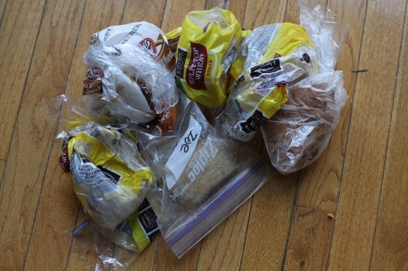 frozen bread odds and ends