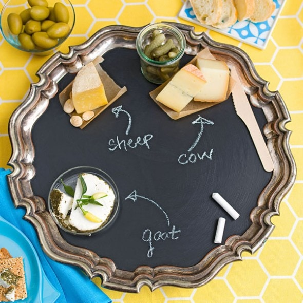 5 Renter-Friendly Chalkboard Paint Ideas - Paint a Serving Tray
