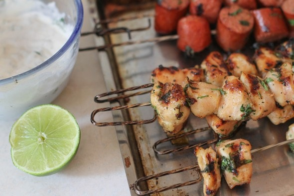 chipotle chicken kabobs