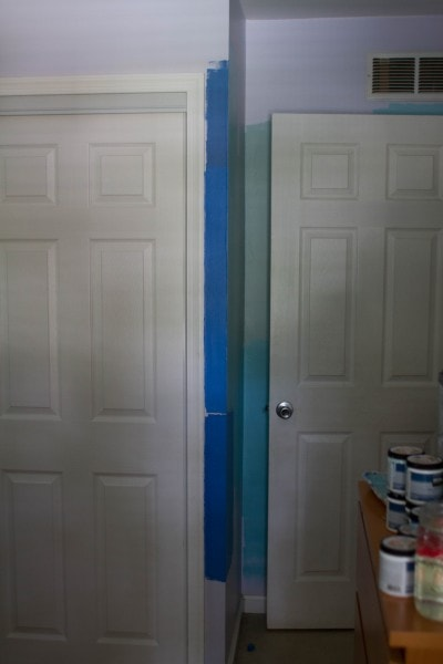 blue looks like painters tape