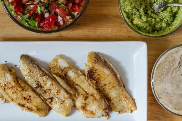 un fried fish tacos