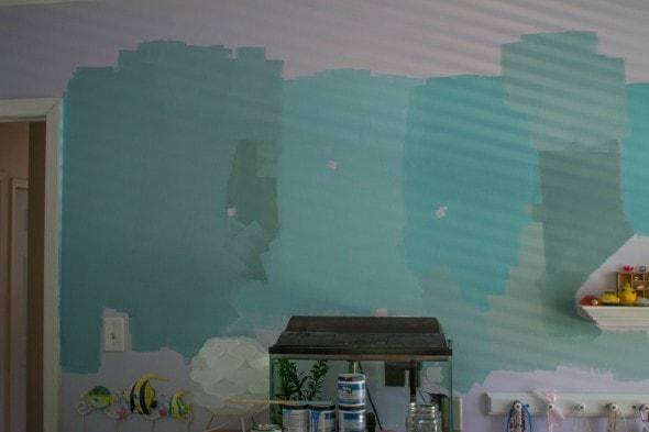 choosing turquoise paint